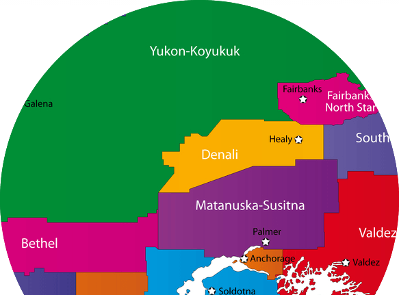 Alaska Counties Map